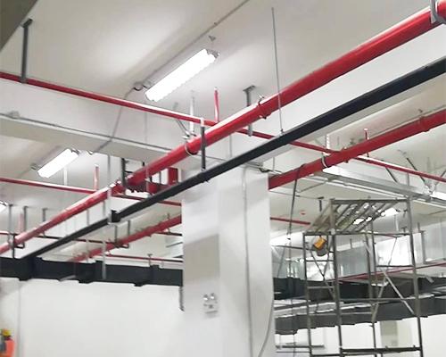 管道抗震支吊架使用现场